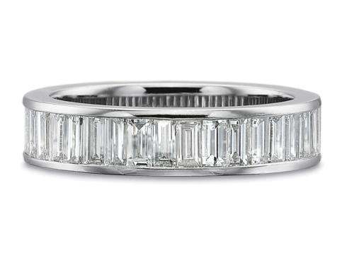 $10,000.00 1.50ctw Half Round Channel Set Baguette Diamond Ring