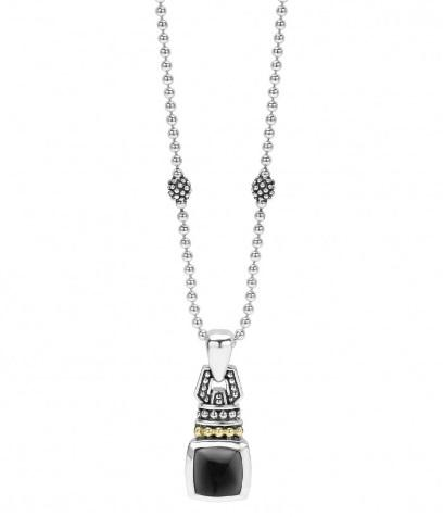 $395.00 ONYX CABACHON PENDANT NECKLACE