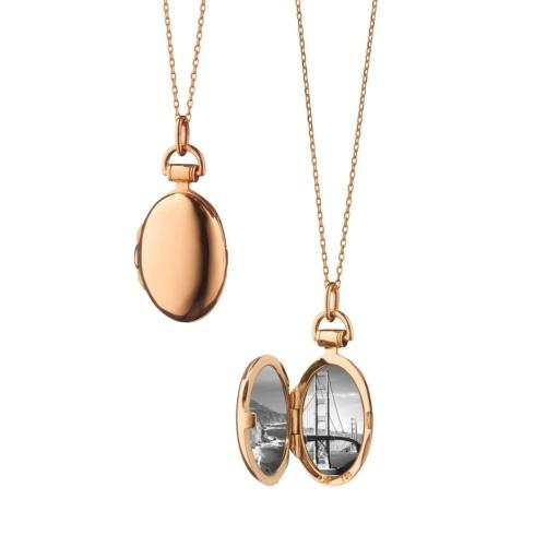 $1,395.00 18k Rose Gold Petite Anna Locket