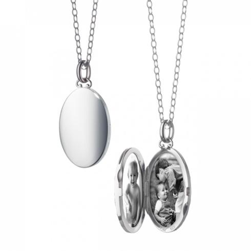 $645.00 Oval Locket with Domed Edges