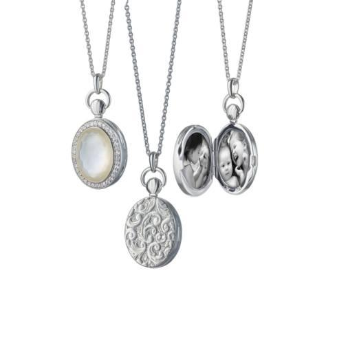 $625.00 Petit Oval Stone Locket