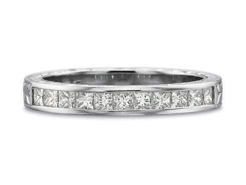 $10,000.00 .50ctw Half Round Channel Set Princess Cut Diamond Band