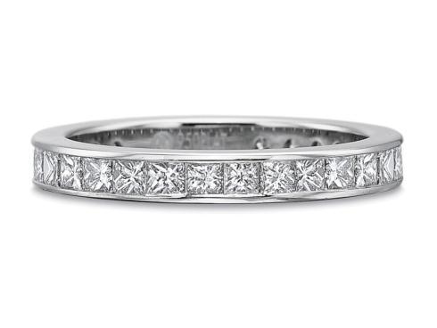 $10,000.00 .90ctw Full Round Princess Cut Diamond Channel Set Band