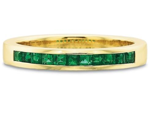 $10,000.00 .30ctw Half Round Square Channel Set Emerald Band