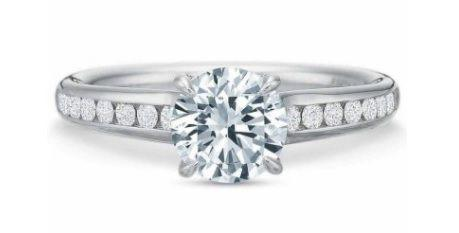 $10,000.00 FlushFit™ Round Diamond Channel Engagement Ring