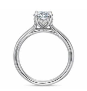 $10,000.00  FlushFit™ Solitaire with Diamond Gallery