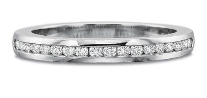 $10,000.00 Half Round Brilliant Channel Set Band