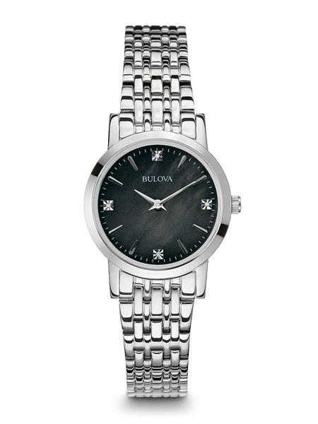 $187.50 Ladies stainless steel watch with diamonds