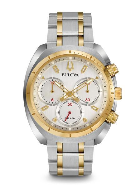 $387.50 Men\'s two-tone Curv Chronograph Watch