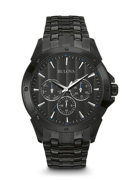 $281.25 Men\'s stainless steel with black ion plating Classic Chronograph