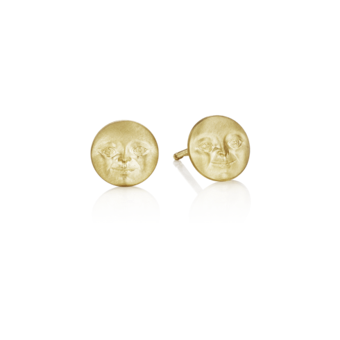 $575.00 Moonface Stud Earrings (7mm)