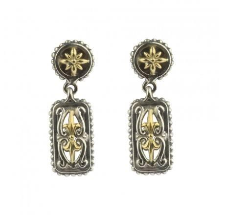 $345.00 Silver and Gold Drop Earrings