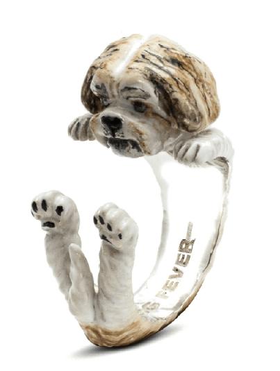 $360.00 ENAMEL HUG RING - SHIH TZU