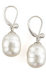 $6,000.00 Classic Elegance White South Sea Cultured Pearl Lever Back Earrings