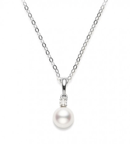 $547.50 6-6.5mm Pearl Pendant with Diamond