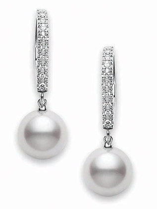 $1,250.00 7.5mm Pearls with Diamonds