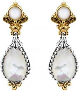 $675.00 Mother of Pearl and Pearl Earrings