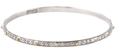 $300.00 Etched Dot Bangle