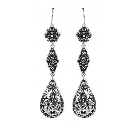 $410.00 Flower Dangle Earrings
