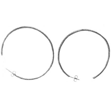 $200.00 Etched Hoop Earrings