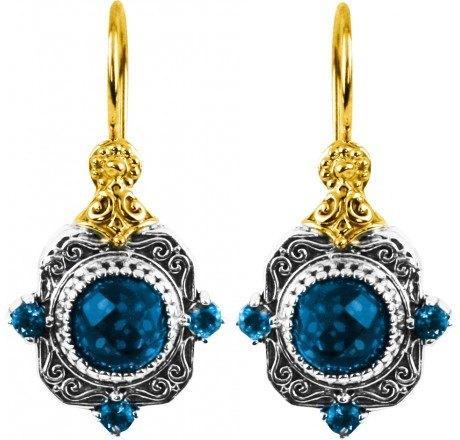 $720.00 London Blue Topaz Dangle Earrings