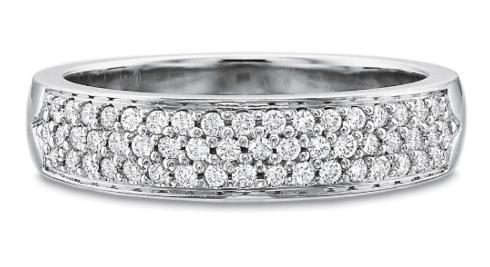 $10,000.00 Half Round Two Row Diamond Pave Band