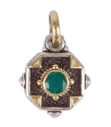 $240.00 Sterling Silver & 18K Gold Petite Pendant