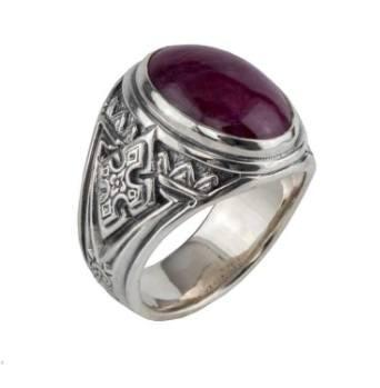 $890.00 Sterling Silver Ruby Root Ring