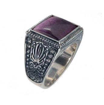 $790.00 Sterling Silver & Ruby Root Ring