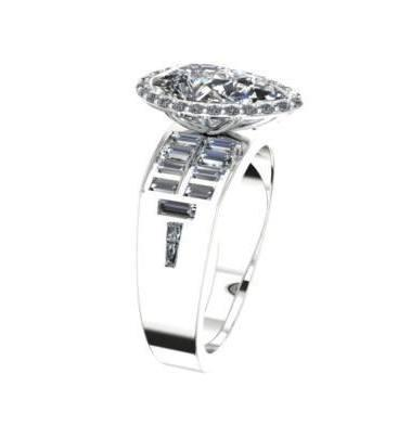 $2,000.00 remount using customer\'s gems