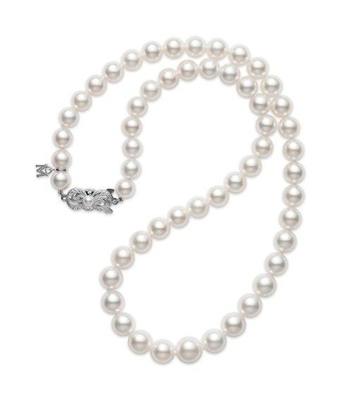 $4,500.00 Akoya Pearl Necklace 7-9mm Graduated Strand