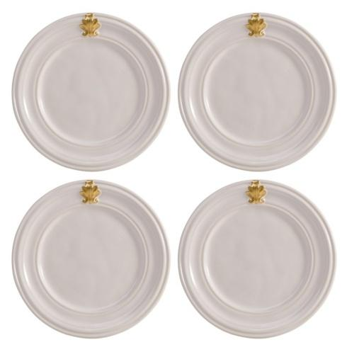 $104.00 Gold Cocktail Plates set of 4