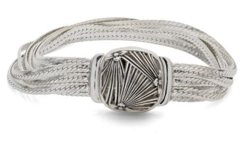 $595.00  Sterling Silver Sunray Fluid Chain Bracelet