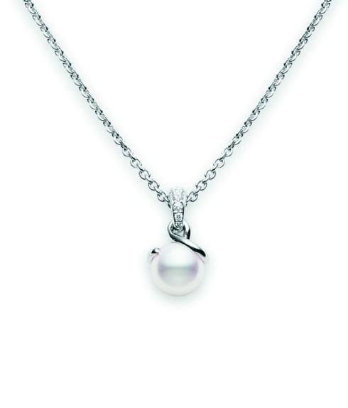 $2,300.00 Akoya Cultured Pearl Twist Pendant