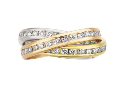 $10,000.00 3 Band Rolling Ring With Diamonds
