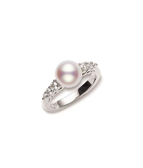 $2,700.00 Morning Dew Akoya Cultured Pearl Ring
