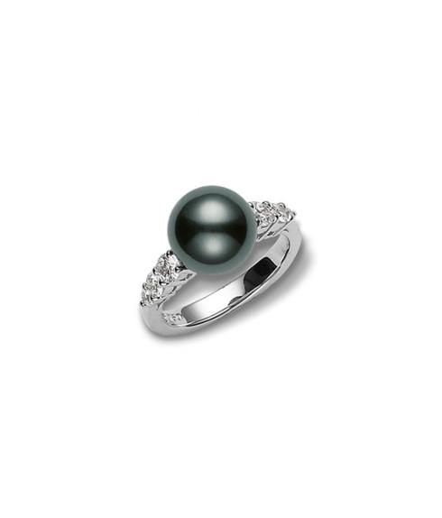 $2,437.50 Morning Dew Black South Sea Cultured Pearl Ring