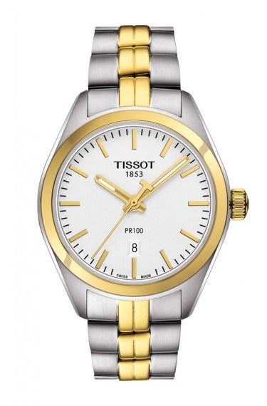 $395.00 PR 100 Women\'s Quartz Silver Dial With Two-Tone Stainless Steel Bracelet