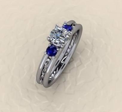 $1,000.00 Sapphire and Diamond