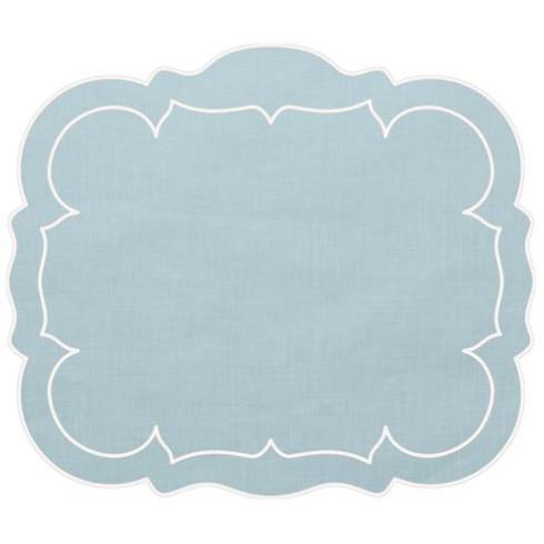 $100.00 Linho Rectangle Placemats - Blue/White, Set of 4