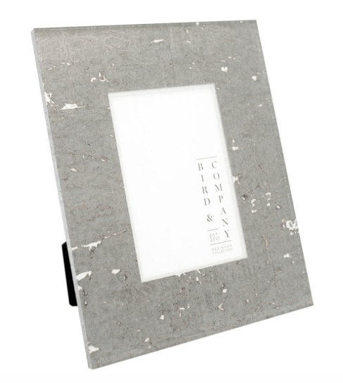 $90.00 Bird & Company Graphite/Silver Leaf 4x6 Frame