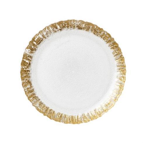 $30.00 Rufolo Ruffle Glass Gold Salad/Dessert Plates
