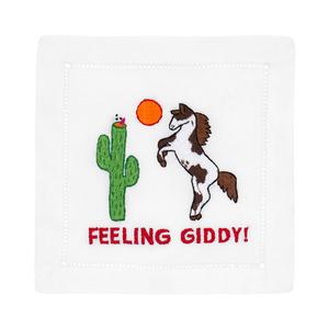 $36.00 FEELING GIDDY HORSE COCKTAIL NAPKINS