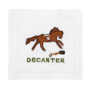 $40.00 DECANTER HORSE COCKTAIL NAPKINS