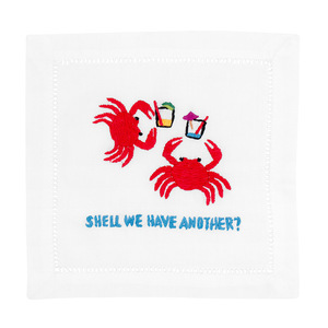 $36.00 SHELL WE HAVE ANOTHER? CRAB COCKTAIL NAPKINS