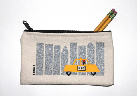 $14.00 Taxi Zip Pouch