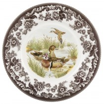 $26.00 Salad Plate Wood Duck