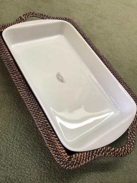 $110.00 Rectangular Tray/ white baker