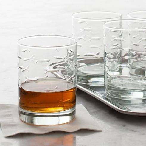 $42.50 School of Fish - Set of 4 Double Old Fashioneds