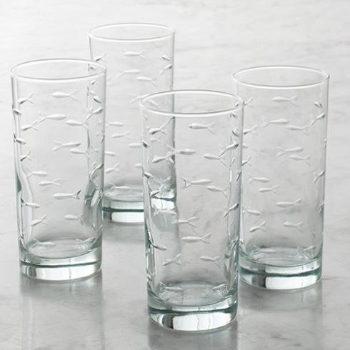 $42.50 School of Fish - Set of 4 Highballs